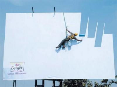 Oriģinālas outdoor reklāmas