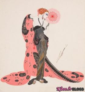 Modes ilustrācijas no Erte.