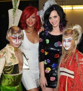 """Katy Pery & Rihanna – """"Cirque du Soleil"""" aizkulisēs"""