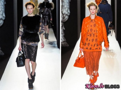 London Fashion Week: Mulberry rudens 2012.