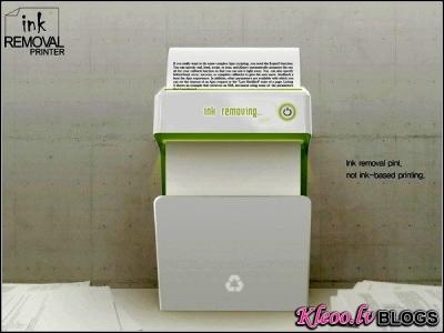 Reverse Printer - принтер, который стирает напечатанное