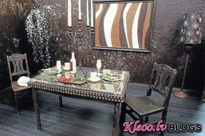 Комната, выполненная полностью из шоколада