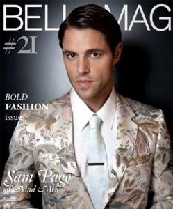 Fashion съемка: мужской костюм-тройка в журнале Bello Magazine