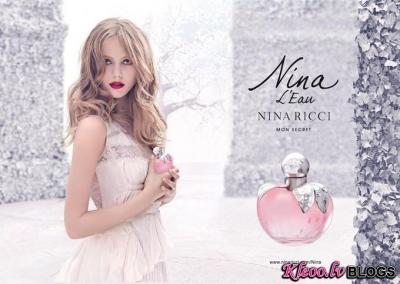 Frida Gustavsson smaržu Nina Ricci Nina L'Eau reklāmā.