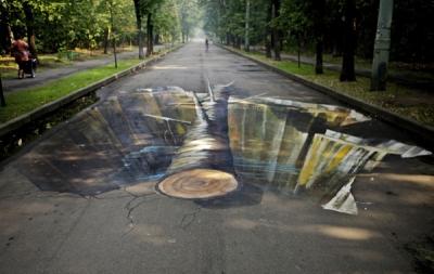 3D attēli Maskavas parkos