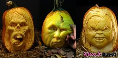 Labākie ķirbji Helovīnos.
