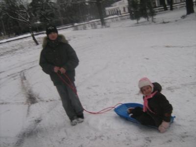 bērnu prieki, pirmais sniegs :))