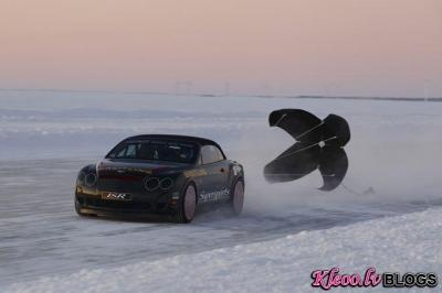 Bentley jaunais rekords uz ledus.