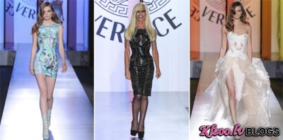 Paris Haute Couture Fashion Week: Versace rudens - ziema  2012-2013.