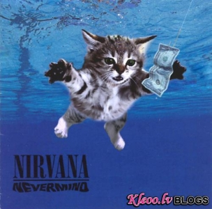 Kaķi uz mūzikas albūmiem.