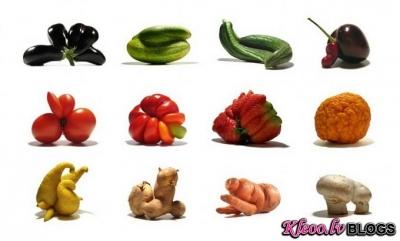 Dārzeņi-mutanti.