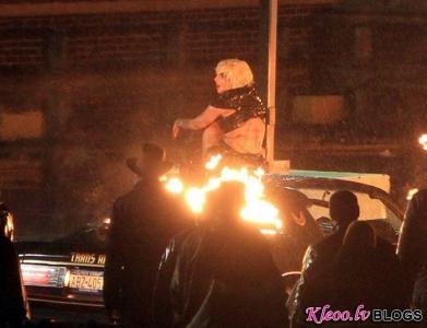 Леди Гага снимает новый клип
