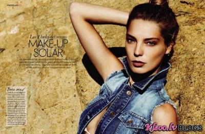 Daria Werbowy divas fotosesijas žurnālam  Elle Spain.