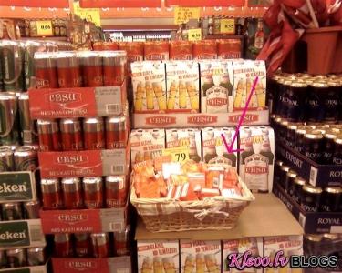 Alus kaudze + prezervatīvi Rimi veikalā