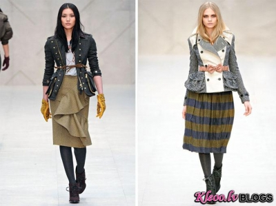 London Fashion Week: Burberry rudens 2012 .