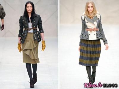 London Fashion Week: Burberry rudens 2012 .