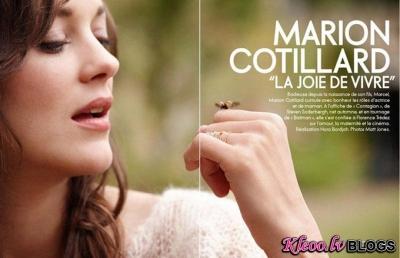 Marion Cotillard žurnālā Elle France.