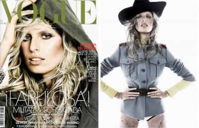 Karolina Kurkova spāņu Vogue.