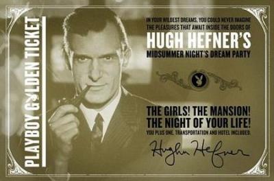 Хью Хефнер раздает билеты на ежегодную секс-вечеринку Playboy