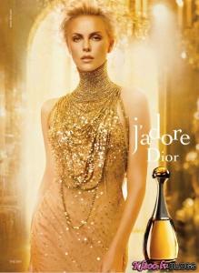 Reklāma jaunajām J`adore Dior .