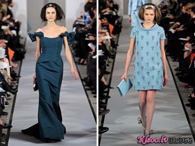 New York Fashion Week: Oscar de la Renta rudens 2012 .