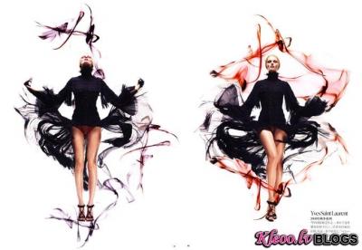 Edita Vilkeviciute žurnālā Vogue China .
