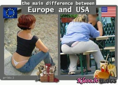 Starpība starp Ameriku un Eiropu