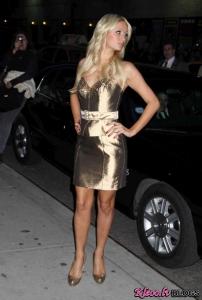 """Paris Hilton apmeklēja """"Late Show With David Letterman"""" Ņujorkā"""