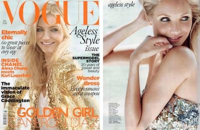Cameron Diaz Britu žurnālā Vogue
