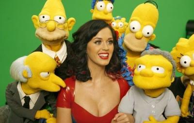 Кэти Перри в фотосессии для сериала «Симпсоны»