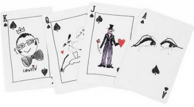 Модный дом Lanvin придумал дизайн стильных игральных карт