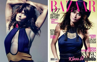 Helena Christensen žurnālā Harper's Bazaar Russia .