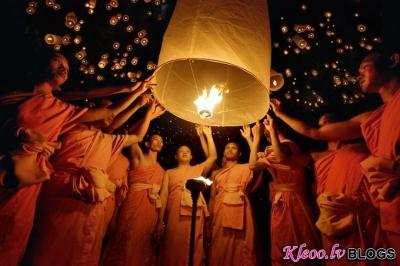 Laternu festivāls Taizemē.