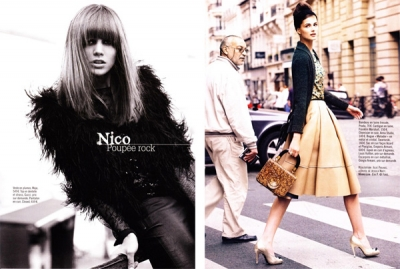 Stila ikonas Glamour žurnālā