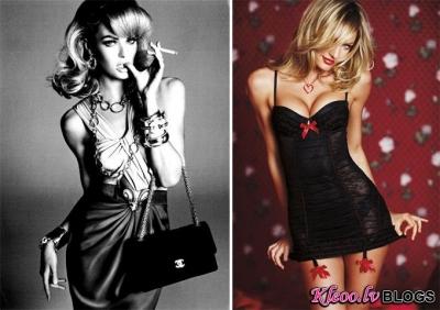 Candice Swanepoel  Victoria's Secret un Vogue Italia reklāmā.