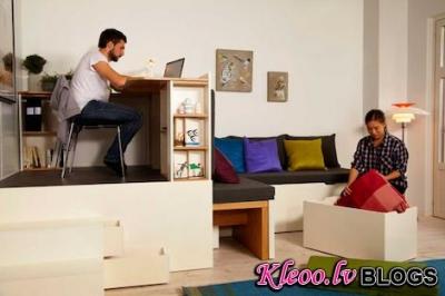 Perfekts interjera risinājums maziem dzīvokļiem.