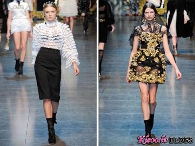Dolce & Gabbana Fall 2012 | Milan Fashion Week.