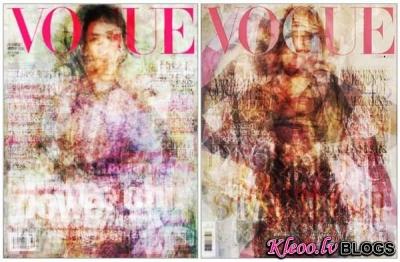 Коlāžas no  Vogue titullapām.