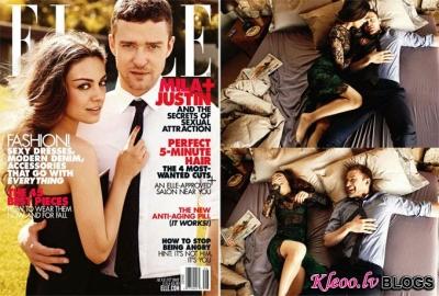 Mila Kunis un Justin Timberlake.