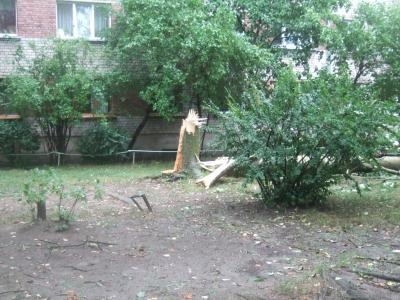 Rīgas svētdienas vētras sekas...