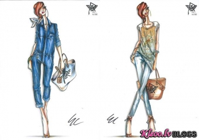 Rihanna dizaineres lomā priekš Armani Jeans .