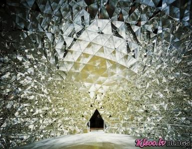 Swarovski kristālu kupols Austrijā.