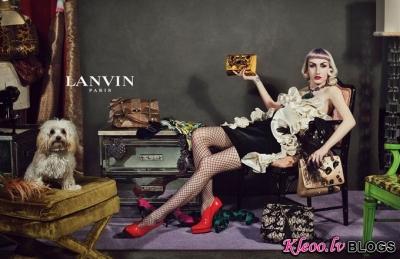 Lanvin  reklāmas kampaņa.