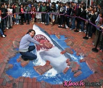 Lieliskas 3D ielu gleznas