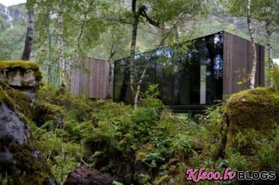 Viesnīca Juvet Landscape Norvēģijā.