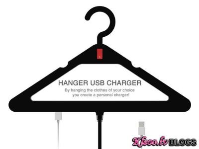 Drēbju pakaramais - lādētājs Hanger USB Charger .