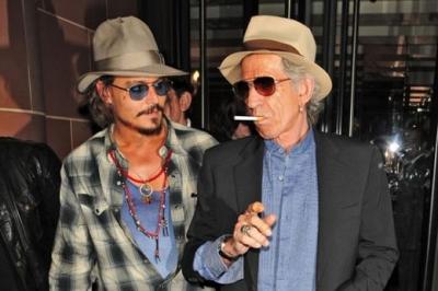Джонни Депп и Кит Ричардс гуляют в Лондоне