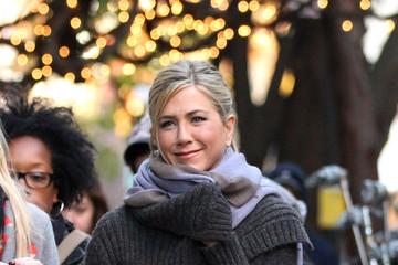 Дженнифер Энистон на съемках в NYC