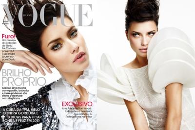 Adriana Lima februāra Vogue numurā.