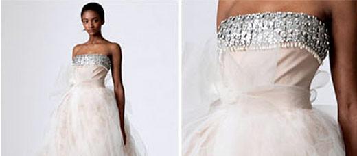 Kāzu kleitas :mode 2010  Metāliskas mežģīnes